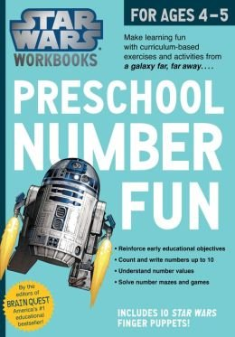 Make Learning Fun Preschool Number Fun Star Wars Workbook For Ages 4-5 (Paperback) - Common PDF
