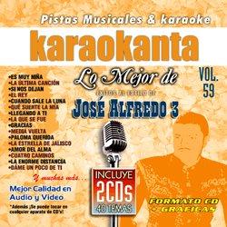 Karaokanta KAR-7059 - Lo Mejor de Jose Alfredo Jimenez 3 Spanish Karaoke CDG