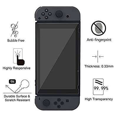 Nintendo Switch Screen Protector Glass, YZtree Nintendo Switch Tempered Glass Screen Protector for Nintendo Switch 2017 (2-Pack)
