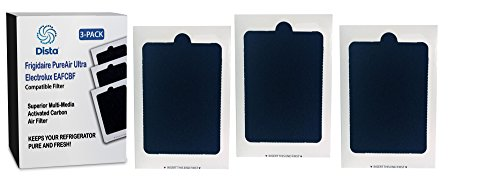 3-Pack - Frigidaire Pure Air Ultra Refrigerator Compatible Air Filter - Also fits Electrolux. Compare to part number EAFCBF PAULTRA 242061001 241754001