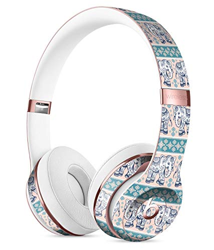 - Walking Sacred Elephant Pattern V2 DesignSkinz Full-Body Skin Kit for The Beats by Dre Solo 3 Wireless Headphones/Ultra-Thin/Matte Finished/Protective Skin Wrap