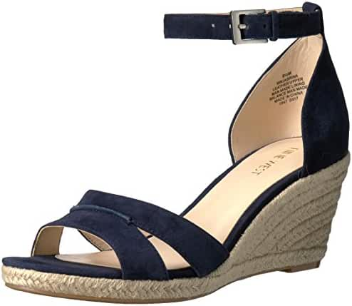 Nine West Women's Jabrina Suede Wedge Sandal