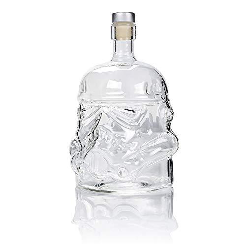Autek 750ml Whiskey Decanter Glasses - Transparent 100% Lead Free Crystal Clear for Brandy, Scotch, Bourbon, Vodka, Liquor - Wine Glass Bottle