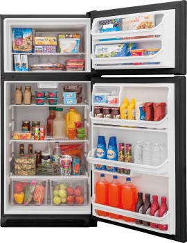Frigidaire FFHT1821TB 30 Inch Freestanding Top Freezer Refrigerator with 18 cu. ft. Total Capacity, in Black