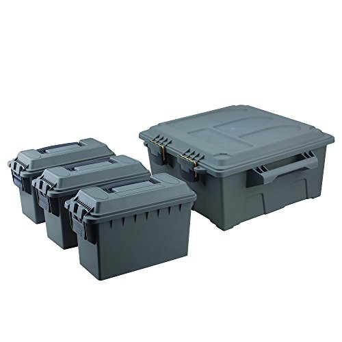 High Desert (HIGXH) 10134 High Desert Large Ammo Crate Utility Box with 3Pc .30 Cal Ammo Boxes