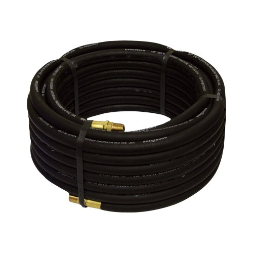 Goodyear Rubber Air Hose - 3/8in. x 50ft., Black (Goodyear Air Compressor Hose compare prices)