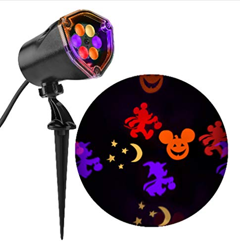 Disney Mickey Multi-Function Red/Orange/Purple/Green Led Multi-Design Halloween Outdoor Stake Light Projector for $<!--$35.99-->