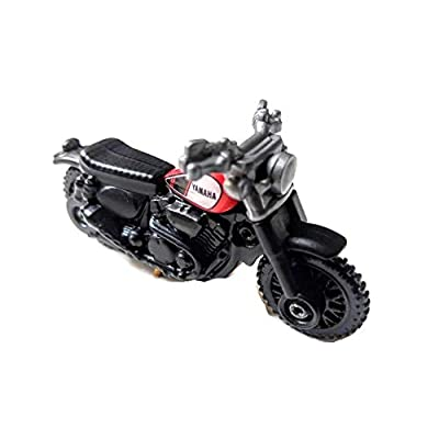 Matchbox 2020 MBX Off Road Yamaha SCR 950 (Motorcycle) 89/125, Black and Red: Toys & Games