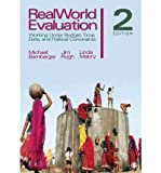 img - for [(RealWorld Evaluation: Working Under Budget, Time, Data, and Political Constraints)] [Author: Michael J. Bamberger] published on (January, 2012) book / textbook / text book