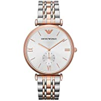 Emporio Armani Women's Quartz Stainless-Steel-Plated Watch, Color:Two Tone (Model: AR1677)