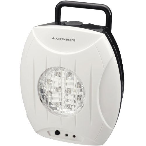Green House Salt Water Powered LED Lantern (Eco emergency light lamp GH-LED10WBW) White JAPAN