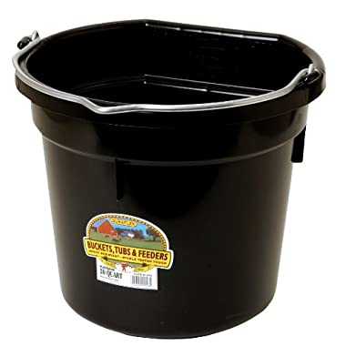 Little Giant 20 Quart Black Flat Plastic Bucket  P20FBBLACK