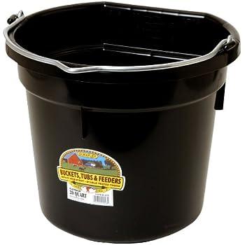 LITTLE GIANT 20 Quart Black Flat Plastic Bucket P20FBBLACK