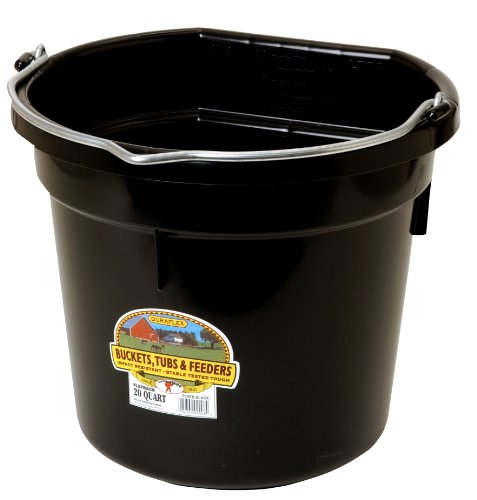 LITTLE GIANT 20 Quart Black Flat Plastic Bucket P20FBBLACK ()