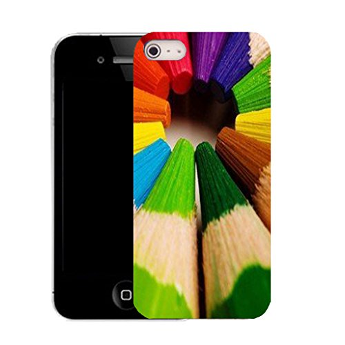 Mobile Case Mate IPhone 5S clip on Silicone Coque couverture case cover Pare-chocs + STYLET - pencil crayon pattern (SILICON)