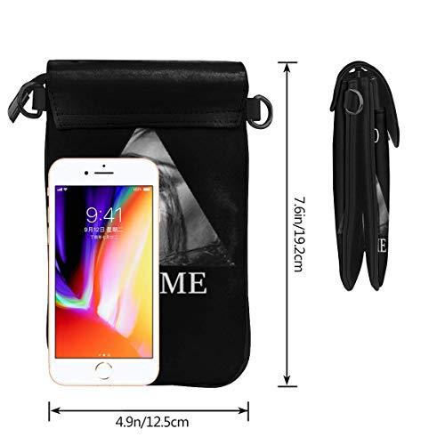 HYJUK Mobiltelefon Crossbody Väska Lizzo Liten Crossbody Mobiltelefon Väska PU Mini Messenger Axelväska Plånbok för Kvinnor
