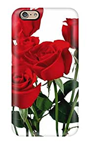 Protective Tpu Case With Fashion Design For Iphone 6 (red Flower)