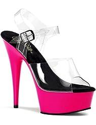 Summitfashions 5 3/4 In Sexy High Heel Shoe Dance Club UV Reactive Neon Blacklight Platform