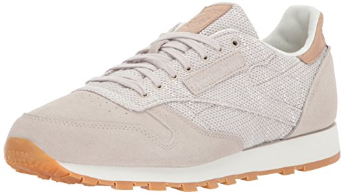 Reebok Men's CL Leather EBK Sneaker, Sandstone/Chalk-Gum, 9 M US