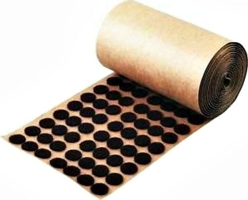 1,000 Brown Adhesive Backed Felt Pads Dots 1/2