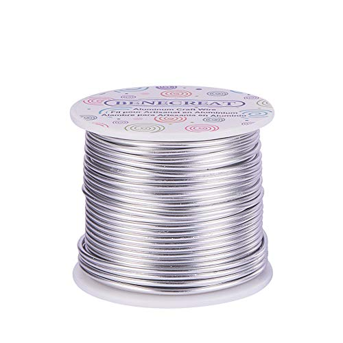 BENECREAT 12 17 18 Gauge Aluminum Wire (12 Gauge,100FT) Anodized Jewelry Craft Making Beading Floral Colored Aluminum Craft Wire - - Beading Floral