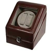 Top Quality Leather Automatic Double Watch Winder Box Pi-brn from Shining Image