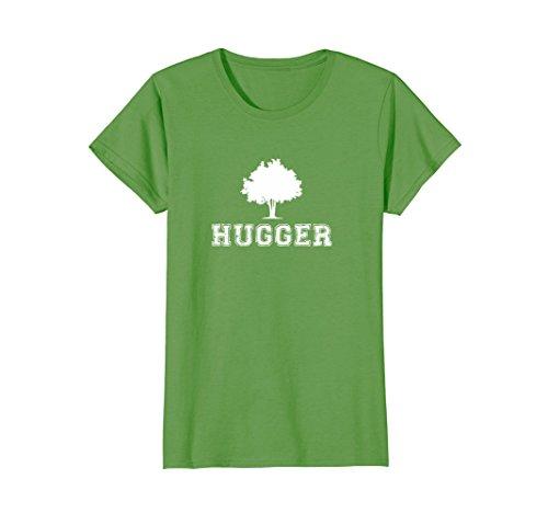 Womens Tree Hugger - Womens Tree Hugger - Green Environmentalists T-Shirt Small Grass