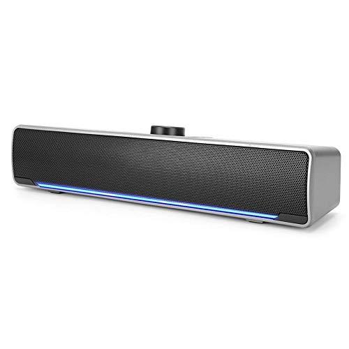Wendry Soundbar, Computer Speakers, Speaker Desktop Notebook Multimedia Mini Speaker 3W 2.0 Channel Computer Accessory…