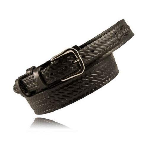Boston Leather 6512L-BRN-3-42 Ranger Lined Police Duty Basketweave Brown Belt 42