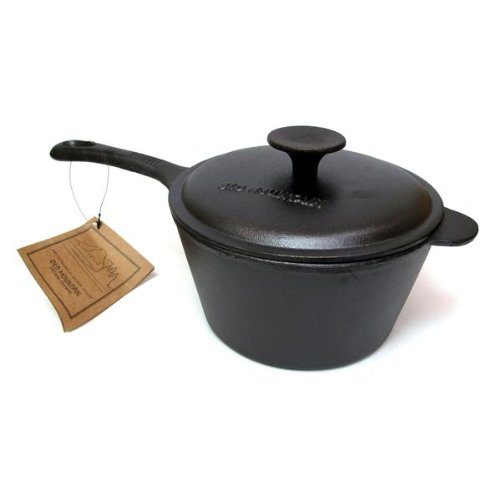 Old Mountain Cast Iron 2 Quart Sauce Pan with Lid
