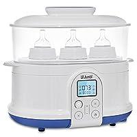 Lil' Jumbl 4-in-1 Bottle Sterilizer Warmer & Dryer w/ Food Steamer Function –...