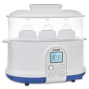 Lil' Jumbl 4-in-1 Bottle Sterilizer Warmer & Dryer w/ Food Steamer Function – Digital LCD Display with Custom Heat Settings