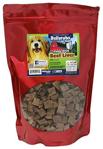 Bellyrubs Organic All Natural 14-Ounce Freeze-Dried Dog Treats, Beef And Liver Flavor