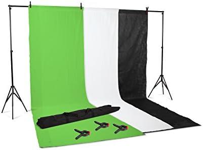 Kenley Kit Primer - Pack de 3 Fondos para Estudio fotográfico con Soporte de 2 x 3 Metros: Amazon.es: Electrónica