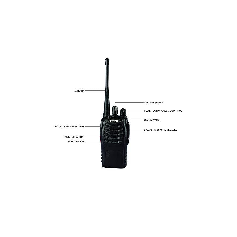 BAOFENG 4pcs BF 888S Walkie Talkie with Built in LED Torch (Pack of 4)