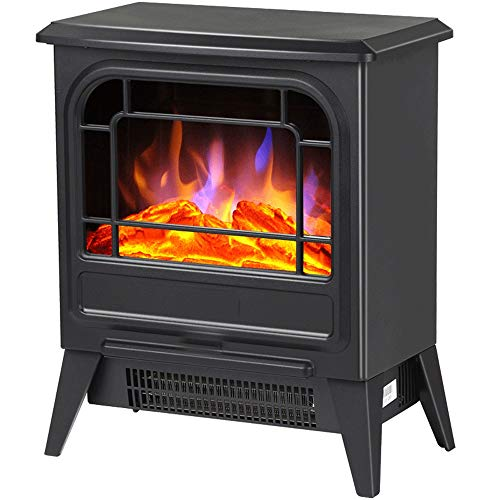 Cheap RKRGQ Electric Fireplace Fireplace Stove Heater Electric Stove Fireplaces Electric Fireplace Heater Log Burner Flame Effect Electric Fireplace Stove Heater900/1800W (Black) Black Friday & Cyber Monday 2019