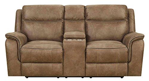 Amazon Com Mstar Cameron Dual Reclining Loveseat With Power Adjustable Headrests