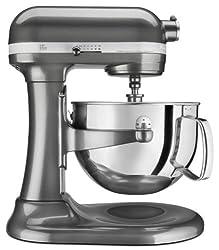 KitchenAid RKP26M1XQG 600 Stand Mixer 6 qt Liquid Graphite...
