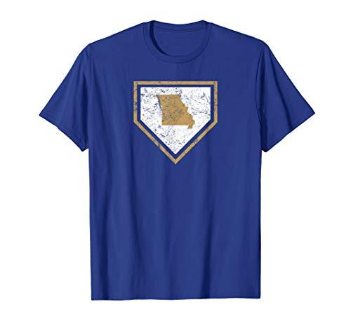 - Vintage Kansas City Missouri Baseball Home Plate T-Shirt
