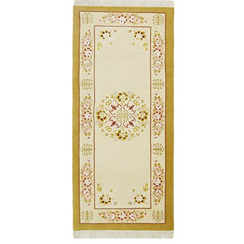 YILONG CARPET 2.5'x6' Handmade Carpet Runner Wool Chinese Area Rug for Hallway Kitchen Beige