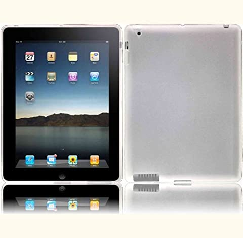Fosmon TPU Skin Case Cover with Stand for Apple iPad 2 / iPad 3 / iPad 4 (with Retina Display) - (Light Wit Stand)