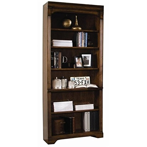 Hooker Furniturer Brookhaven Tall Bookcase in Distressed Clear Cherry