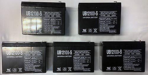 12V 10AH SEALED LEAD ACID UPG 85968/D5719 SLA BATTERY - 5 Pack