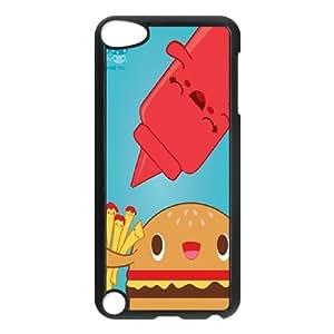 DIY iPod Touch 5 Case, Zyoux Custom High Qualtiy iPod Touch 5 Shell Case - Cartoon fries