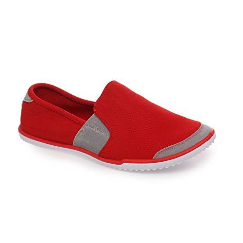 La Modeuse-zapatillas, diseño de slip-on para mujer Rojo - rojo