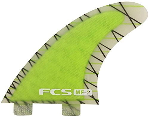 FCS Mick Fanning Performance Core Thruster Fin Medium Green (Performance Fin)