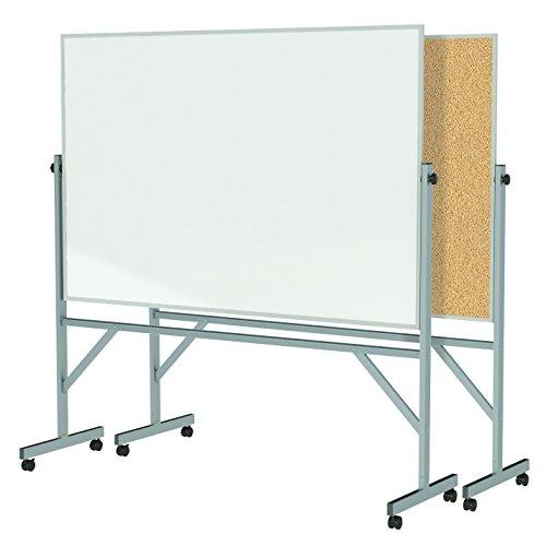 Ghent 4' x 6' Aluminum Frame Mobile Reve - Frame Natural Cork Reversible Board Shopping Results