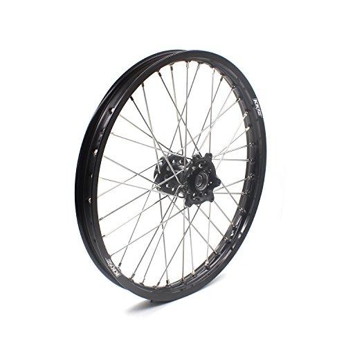 KKE HONDA MX CNC Wheel 21/19 CRF450R 02-12 CRF250R 04-13 Black Hub by KKE (Image #5)