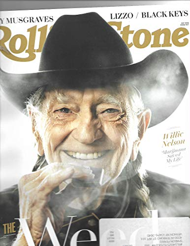 Rolling Stone Magazine may 2019 {Willie nelson Cover] { postal label on front}