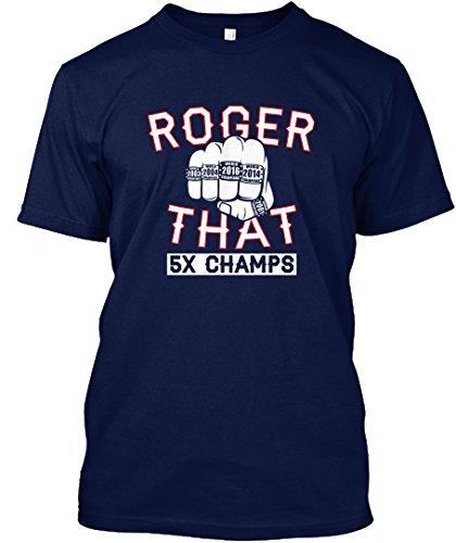 Teespring Unisex Roger That 5 Rings Hanes Tagless T Shirt Xx Large Navy